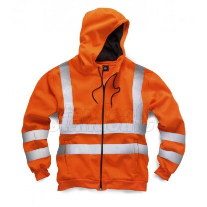 hi vis hooded jacket orange