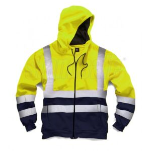 standsafe two tone hi vis hood yellow