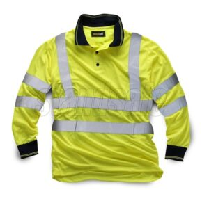 standsfae hi vis long sleeve polo yellow