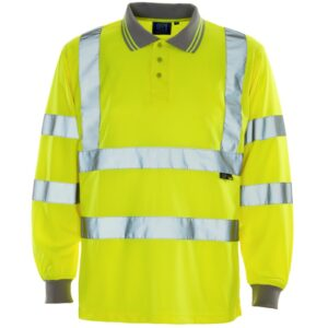 hi vis long sleeve polo