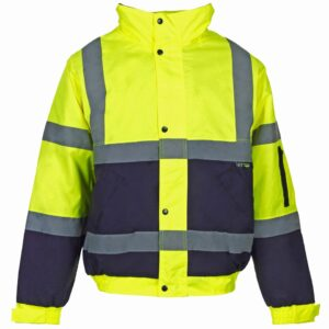 two tone hi vis bomber