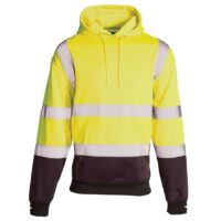 supertouch two tone hi vis hoodie