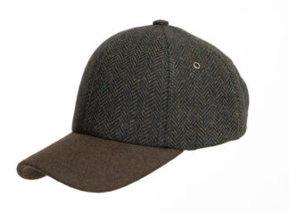 Denton Hats Tweed Baseball Caps with Wool Peak