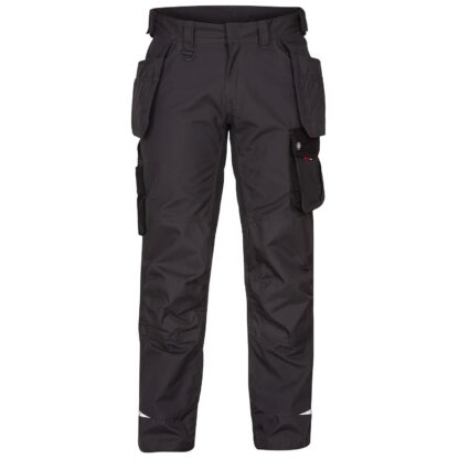 F. Engel Galaxy Work Trousers with Tool Pockets Grey & Black